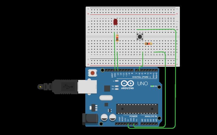 Arduino push button Pushbutton to